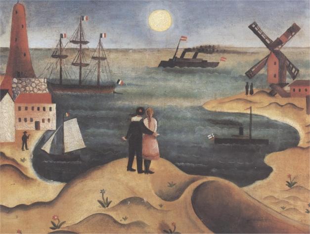 Obrázek od Adolfa Hoffmeistera: Přímořská krajina